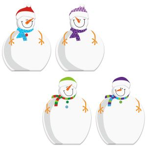 Die-Cut Snowman Notepads