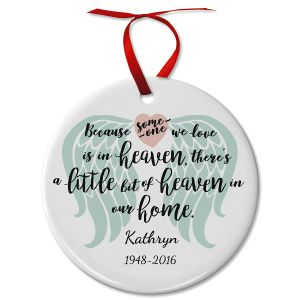 Personalized Bit of Heaven Ceramic Ornament