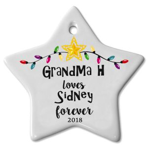 Love You Forever Ceramic Personalized Christmas Ornaments