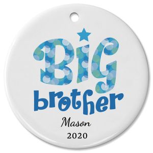 Big Brother Personalized Ceramic Ornament