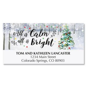 Snowy Forest Deluxe Address Labels