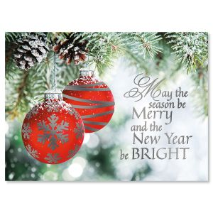 ornament wish deluxe foil christmas cards - Holiday Christmas Cards
