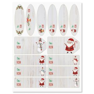 Santa & Friends Gift Wrap To/From Labels