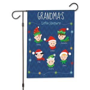 Christmas Elves Personalized Garden Flag