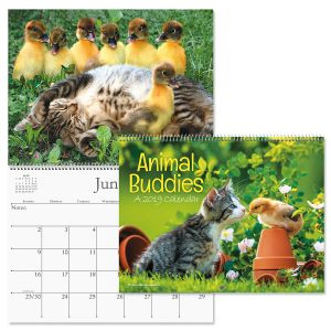 2019 Animal Buddies  Wall Calendar