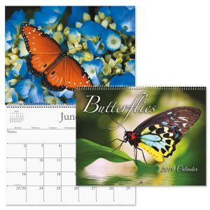2019 Butterflies Wall Calendar