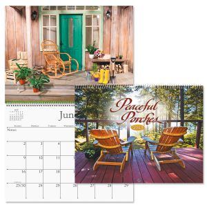 2019 Peaceful Porches Wall Calendar