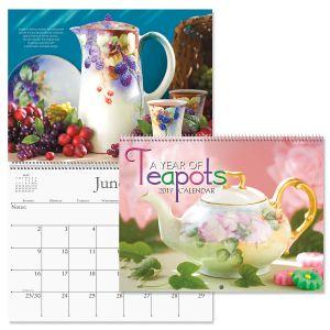 2019 Teapots Wall Calendar