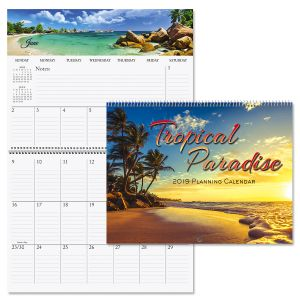 2019 Tropical Big Grid Planning Calendar