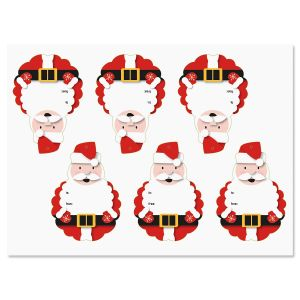 Die Cut Santa Tags