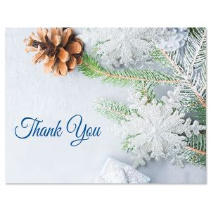 Pinecone Thank You Cards