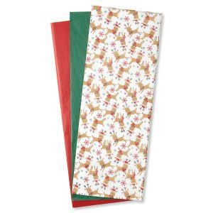 Festive Reindeer Tissue Sheets
