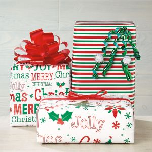 Oh So Merry Flat Gift Wrap Sheets