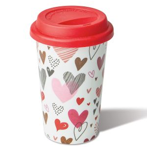 Ceramic Valentine Travel Mug