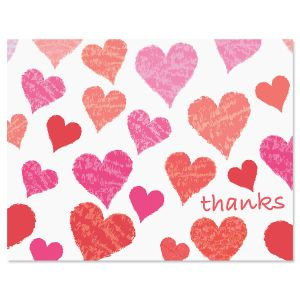 Heart Thank You Note Cards