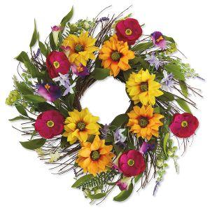Sunflower Field Wreath