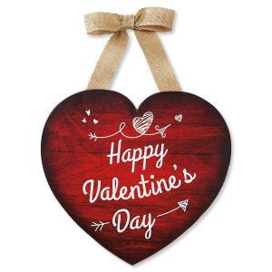 wood valentine heart - Valentines Day Decor