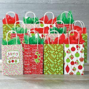 Christmas Dots Gift Bags