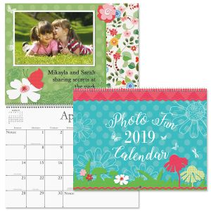 2019 Photo Fun Scrapbook Wall Calendar