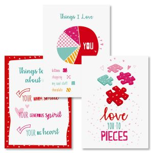 What I Love About You Valentines Day Cards