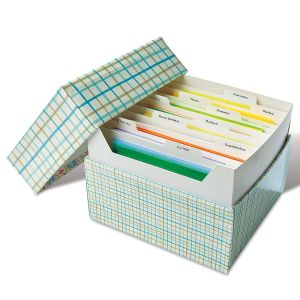 Greeting Card Organizer Box and Labels