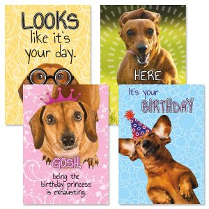Dachshund Birthday Cards and Seals