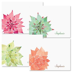 Cactus Personalized Note Cards