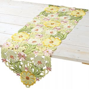 Yellow Floral Table Runner