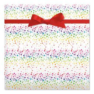 birthday confetti jumbo rolled gift wrap