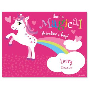 Unicorn Personalized Kids' Valentines