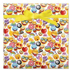 Emoji Jumbo Rolled Gift Wrap