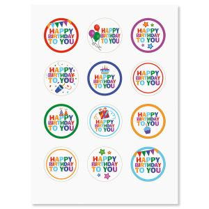 Happy Birthday Envelope Sticker Seals - BOGO