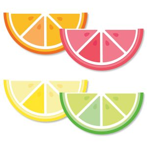 Diecut Summer Citrus Note Cards