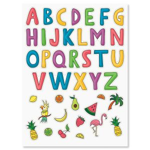 Fruity Alphabet Stickers