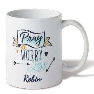 Personalized Pray More Mug