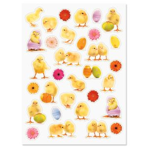 Chicks & Flowers Stickers