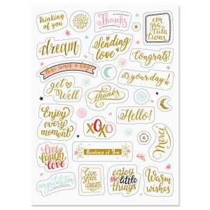 Foil All Occasion Words Stickers