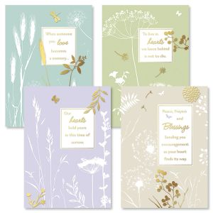 Botanical Sympathy Cards and Seals