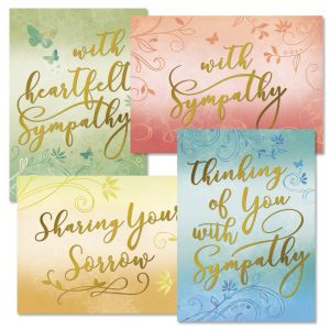 Deluxe Ombre Sympathy Cards and Seals