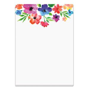 Watercolor Flowers Purse Notepad
