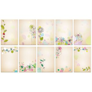 Kraft Blossom Memo Pads Value Pack