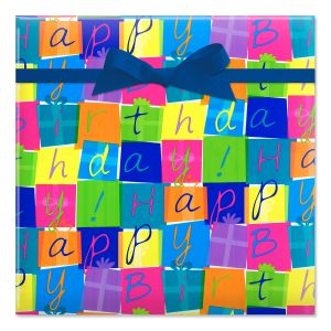 Birthday Boxes Jumbo Rolled Gift Wrap
