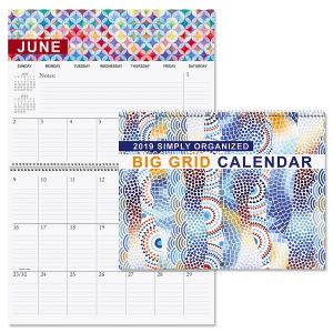 2019 Simply Organized Big Grid Planning Calendar
