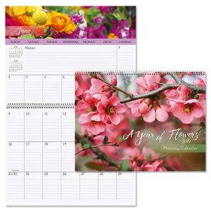 2019 A Year of Flowers Big Grid Planning Calendar