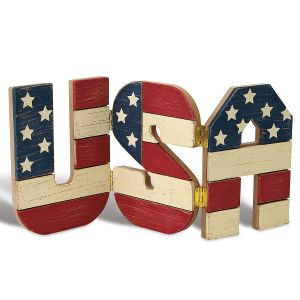 USA Wooden Decoration