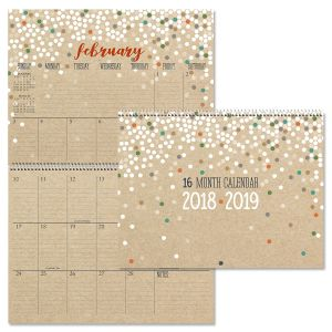 2019 Kraft Big Grid 16-Month Planning Calendar