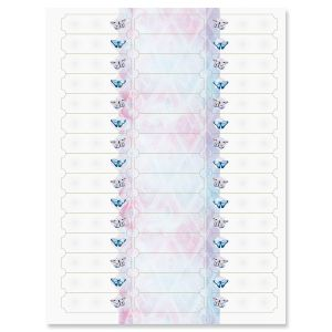 Butterfly Florals File Folder Tab Stickers