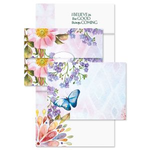 Butterfly Florals Just-a-Note™ Cards with Seals