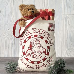 North Pole Canvas Tote