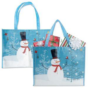 Snowman Shopping Bag